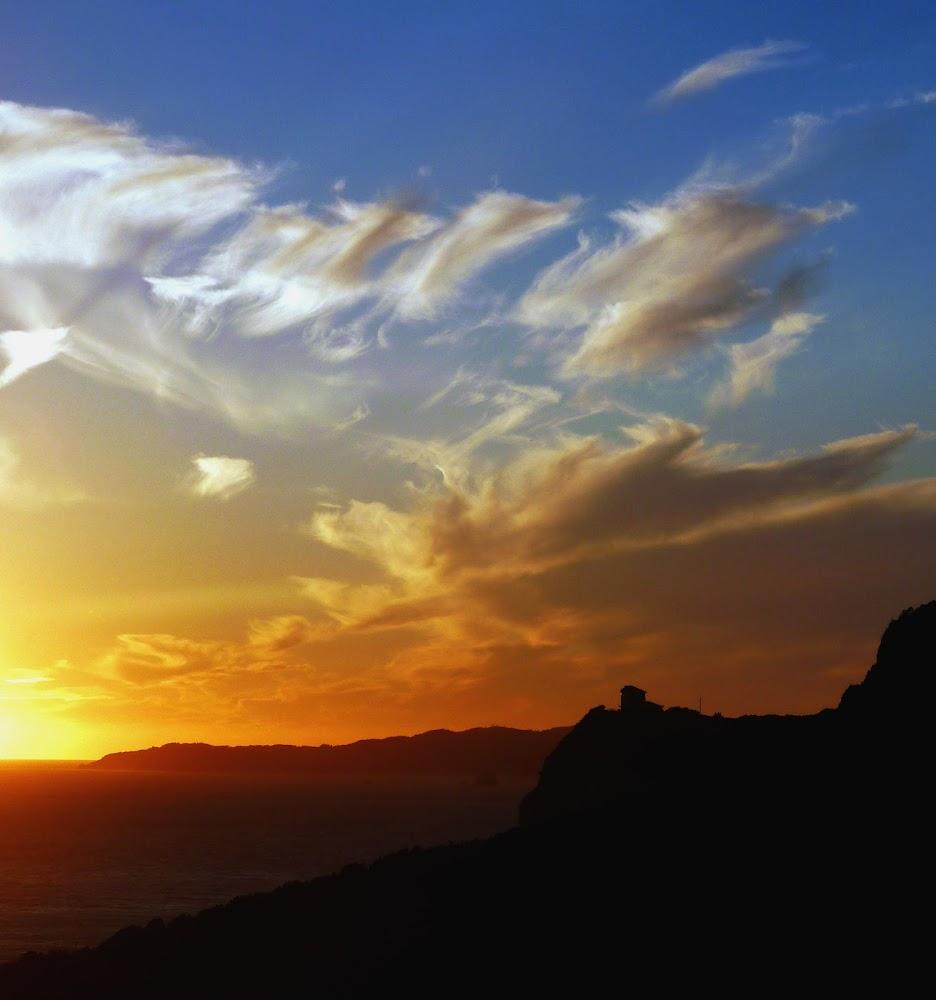 Stimmungsvoller Sonnenuntergang in Arillas (Korfu, Griechenland)