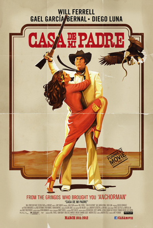 image, film, review, cover, Casa de mi Padre, 2012, pic