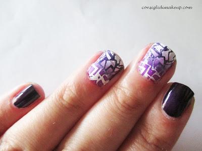 Nail art: stamping&shade