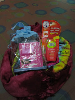 Sunblock,Sarong,Toiletries