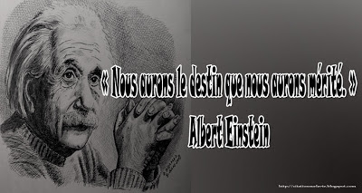 Citation Einstein sur le destin