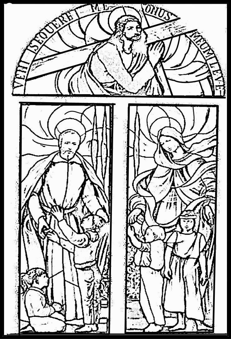 Vistoso Vidrieras Para Colorear Páginas Para Imprimir Ilustración ...