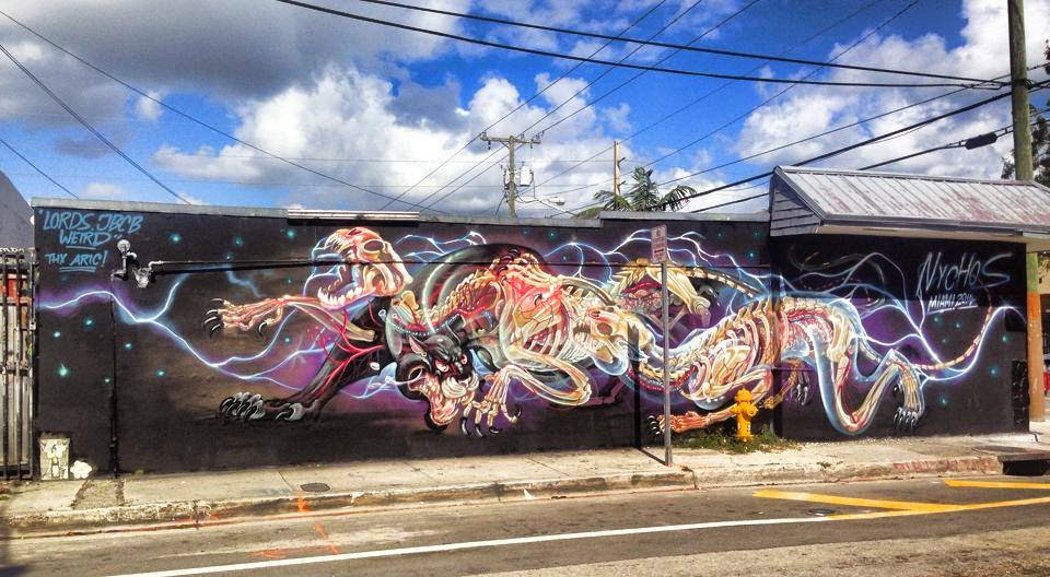 NYCHOS is currently in sunny Florida for the upcoming opening of Art Basel 2014 on the streets of Miami.