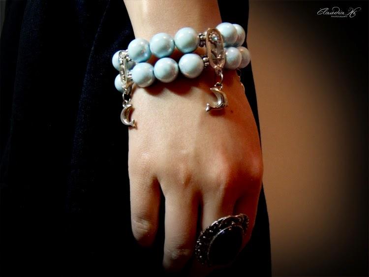 blue, bracelet, bangle