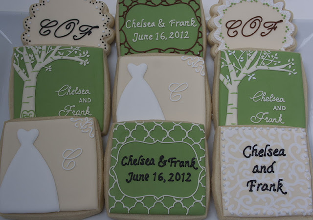 Antique bridal shower cookies