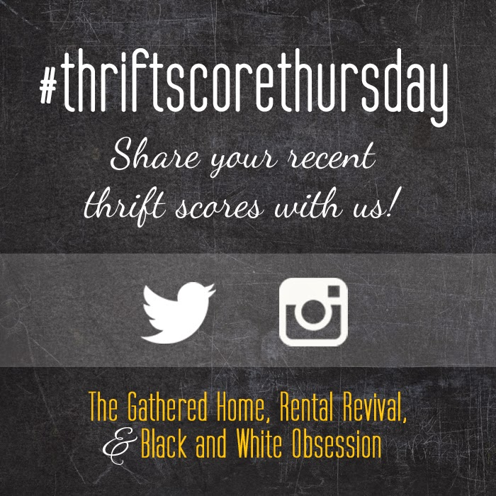 #thriftscorethursday Week 11 | Trisha from Black and White Obsession, Brynne's from The Gathered Home, and Megan from Rental Revival