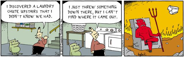 Devil Laundry Chute