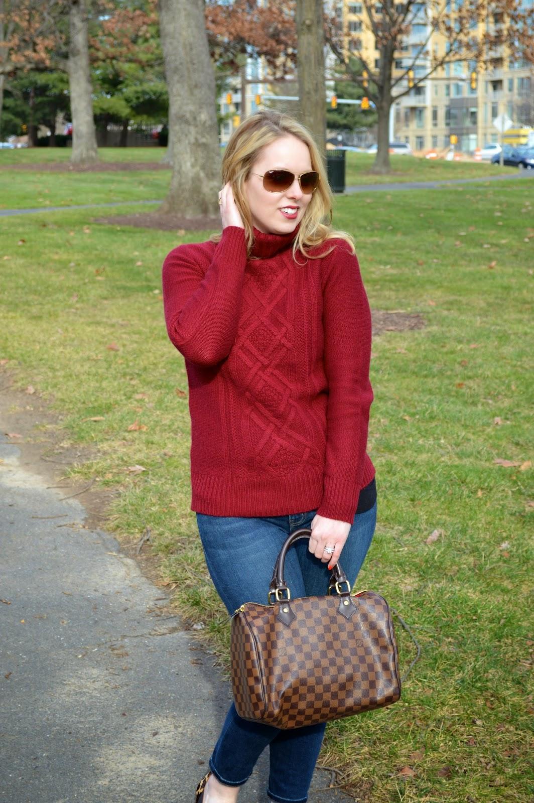 red-J.Crew-sweater