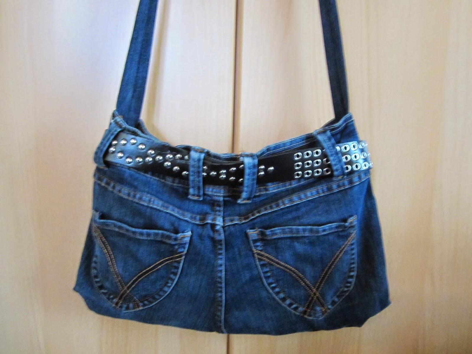 minervas handarbeit alte jeans neue tasche. Black Bedroom Furniture Sets. Home Design Ideas