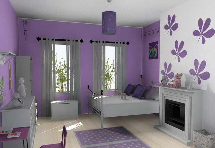 Bedroom decorating ideas turquoise decorsart for Bedroom designs purple