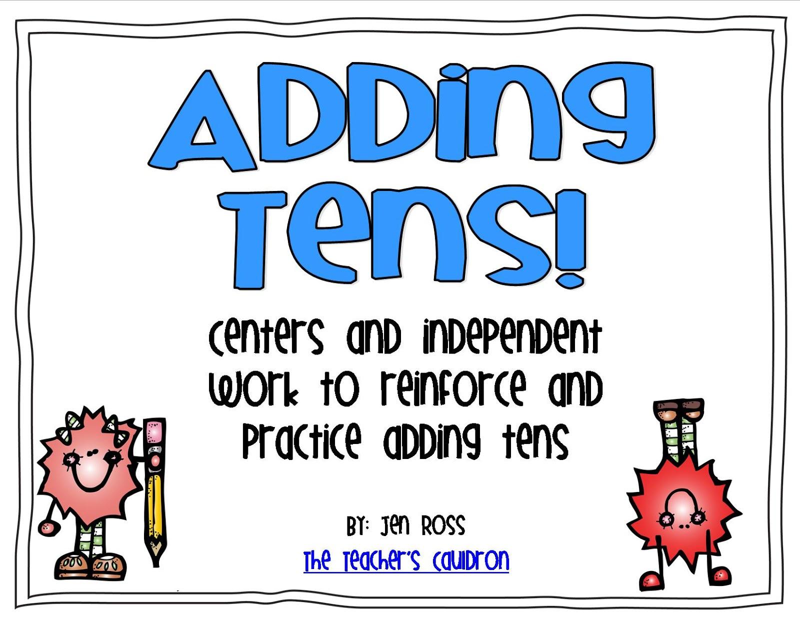 Adding Tens! - Teacher by the Beach