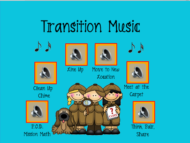 Classroom Transition Ideas ~ Mrs lirette s learning detectives transition music in