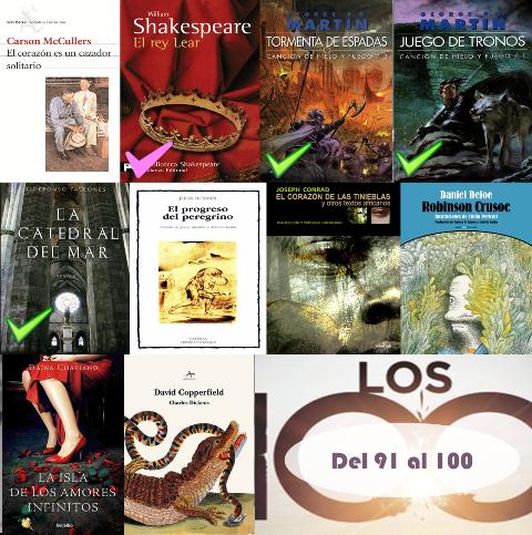 91 al 100 de los 100 mejores libros de todos los tiempos