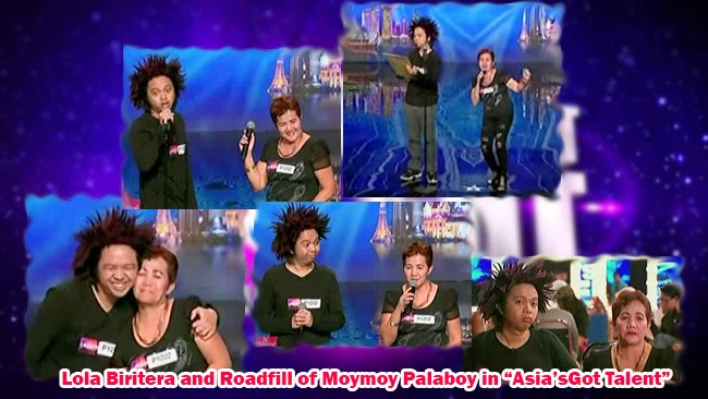 Watch Youtube Sensation Lola Biritera and Roadfill of Moymoy Palaboy Tried their Luck in 'Asia's Got Talent'