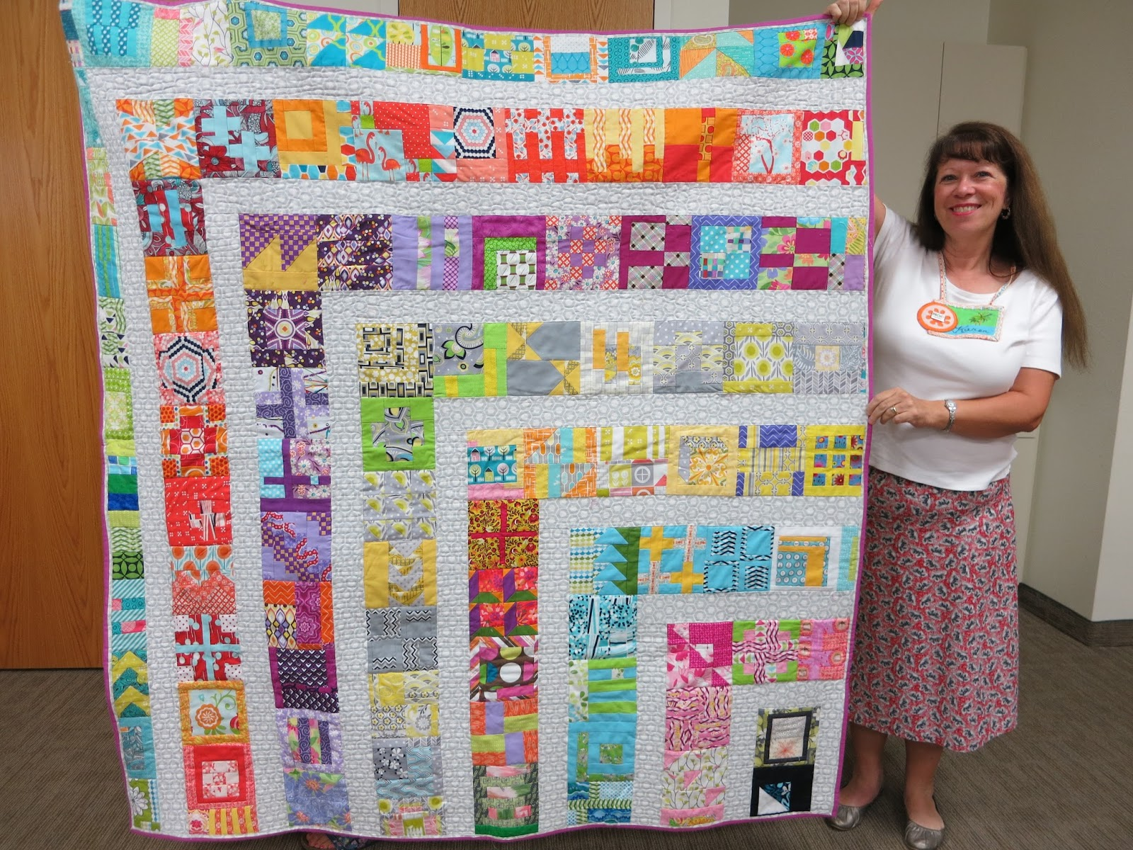Central florida modern quilt guild august sew in and meeting for Modern house quilt block