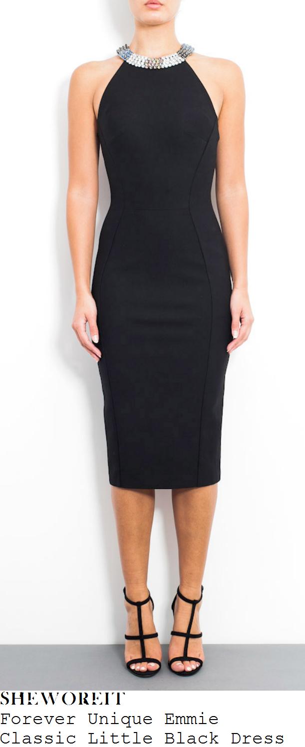 lucy-mecklenburgh-black-embellished-halterneck-pencil-midi-dress-towie