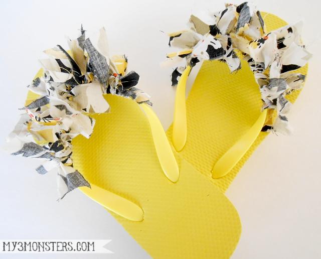 Embellished Flip Flop Ideas at my3monsters.com