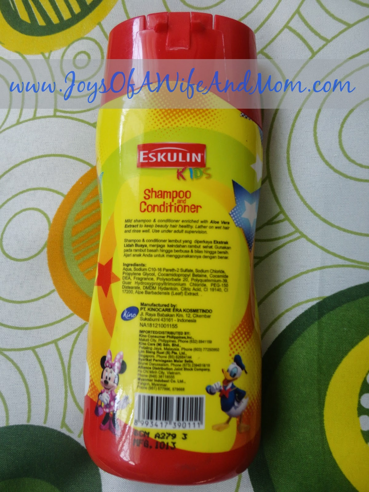 Product Review: Eskulin Kids Shampoo and Conditioner (Mickey Mouse)