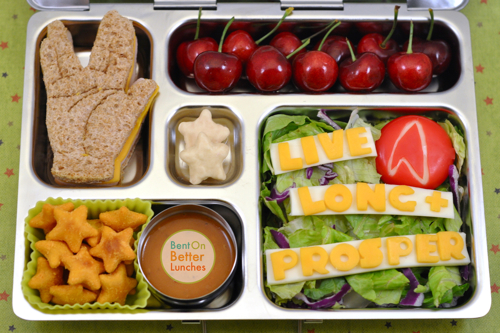 Live Long &amp; Prosper Vulcan salute bento lunch