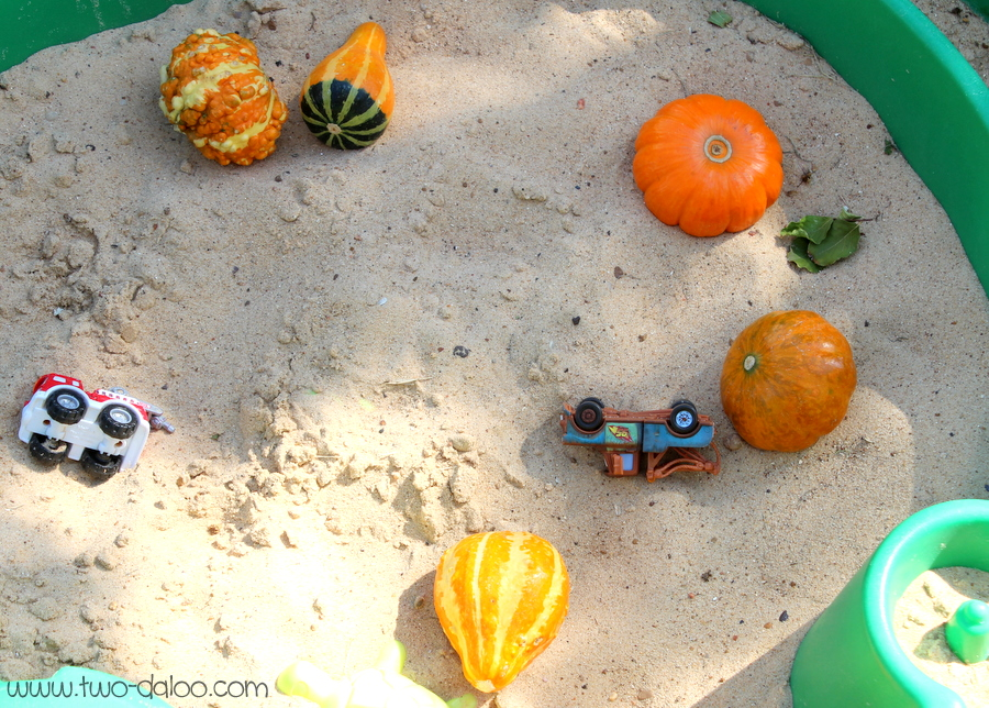 Pumpkins in the sandbox by Two-Daloo