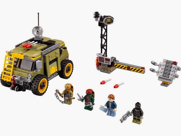TOYS : JUGUETES - LEGO Tortugas Ninja : Ninja Turtles  79115 La furgoneta tortuga : Turtle Van Takedown  Producto Oficial 2014 | Edad: 6-12