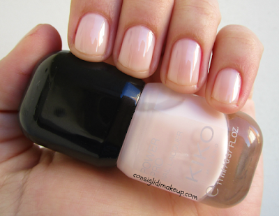 power pro nail lacquer kiko cosmetics 103 rosa nude swatch