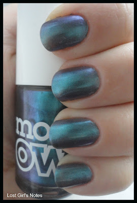 models own beetlejuice aqua violet nail polish swatches