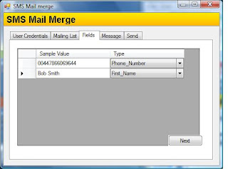 SMS Mail Merge