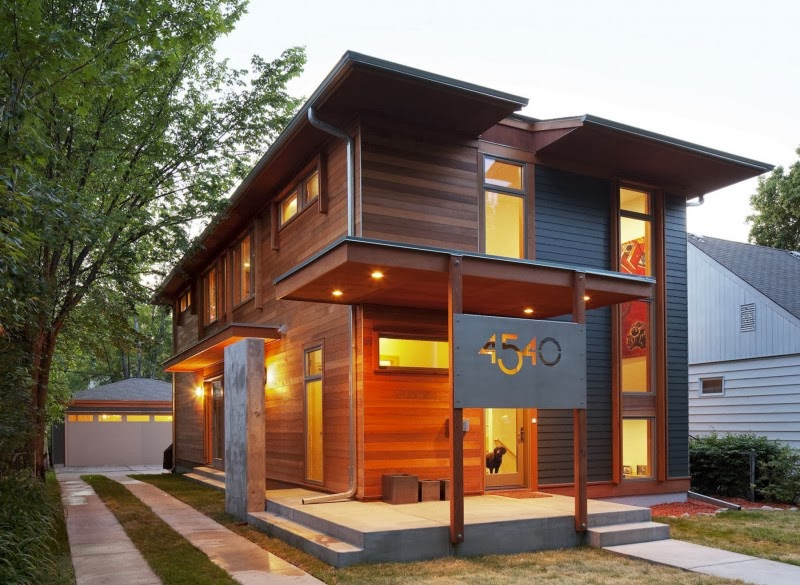 modern wood home design in mennesota