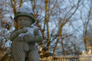 Sculpture sous la neige - Berlin