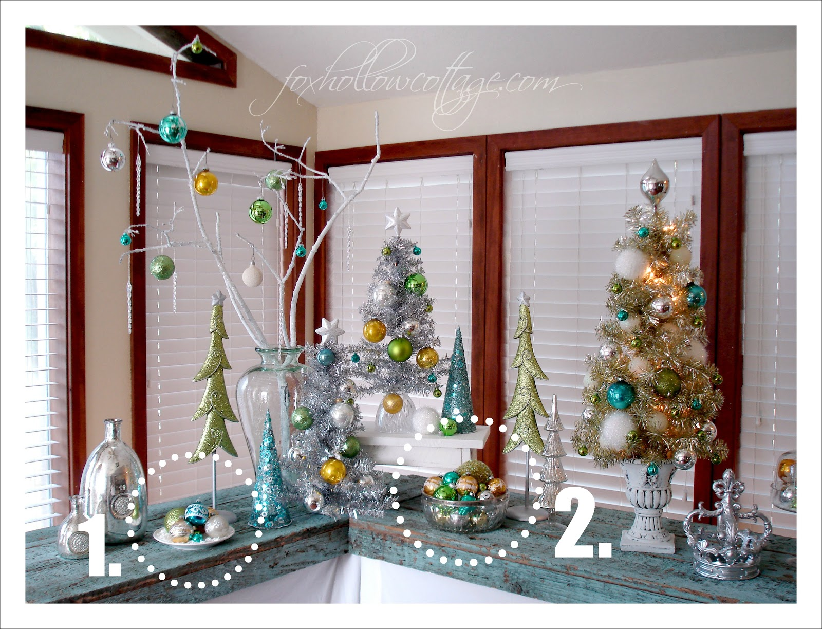 10 quick ideas for decorating with christmas ornaments - Decorate Your Home For Christmas Cheap