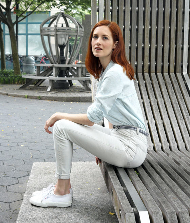 Taylor Tomasi Hill for the Zara Edit, monochromatic outfit, pastels, summer look, white Supergas
