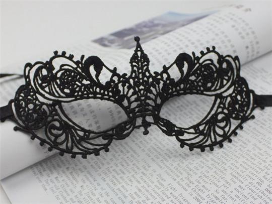 BLACK White Lace Masks Girls Wedding Halloween Masquerade Decoration