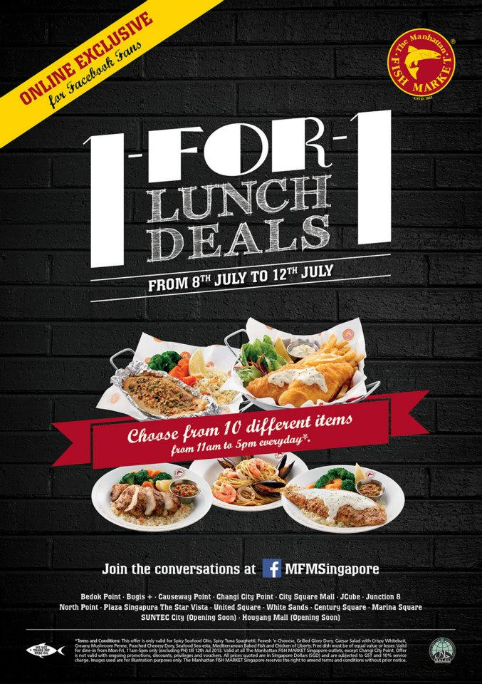 Foodiefc manhattan fish market 1 for 1 lunch deals till for Sea city fish and chicken
