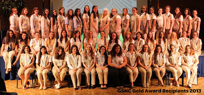GSNC Gold Award Recipients 2013