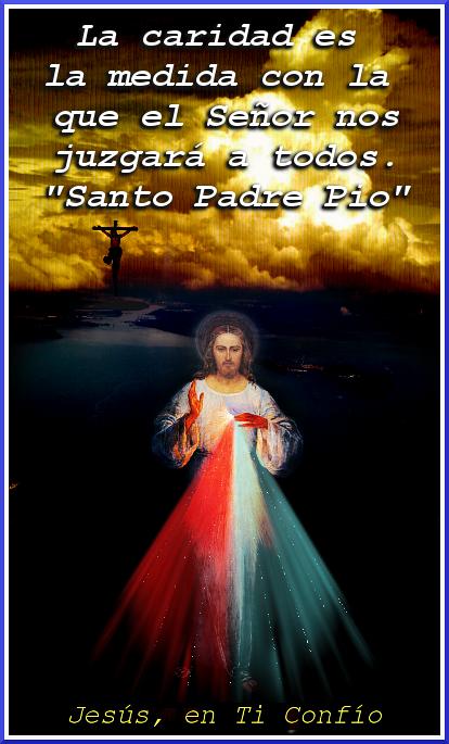 imagen de jesus con frase del padre pio