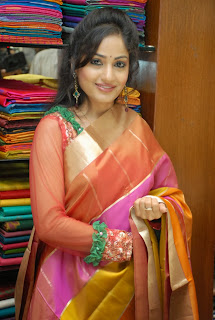 Madhavi Latha Pictures in Salwar Kameez at Sreeja Fashions South Silk Festival 2013 Launch