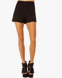 women's black dressy shorts