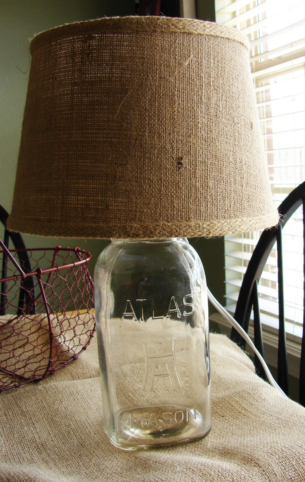 jonathan anna pinterest challenge mason jar lamp. Black Bedroom Furniture Sets. Home Design Ideas