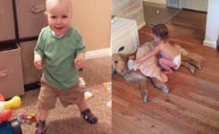 Baby Cant Stop Laughing at Squeeky Shoes
