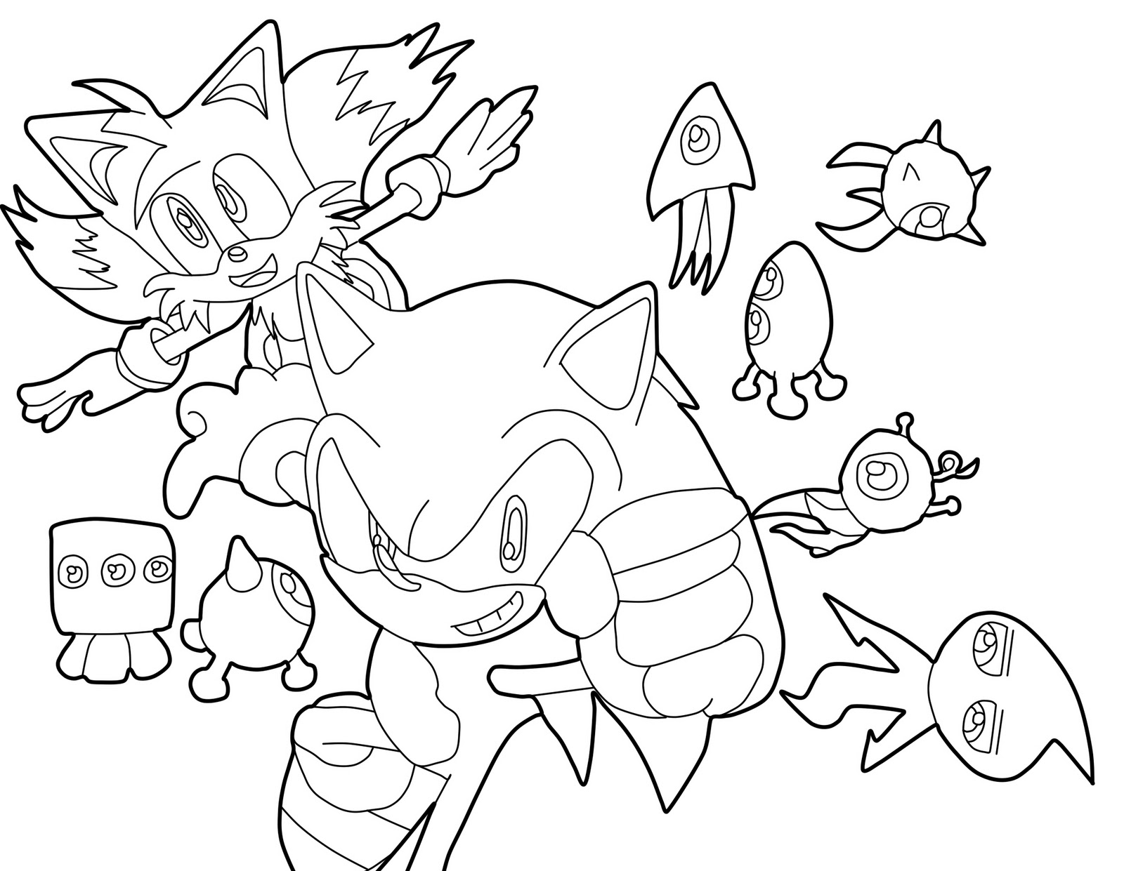 Blog MegaDiverso: Sonic para imprimir y pintar