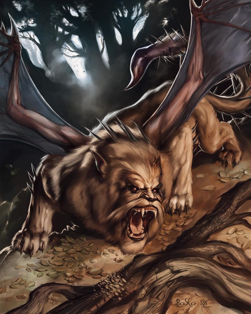 Compendio de Monstruos 10_Manticore_JoaoBosco