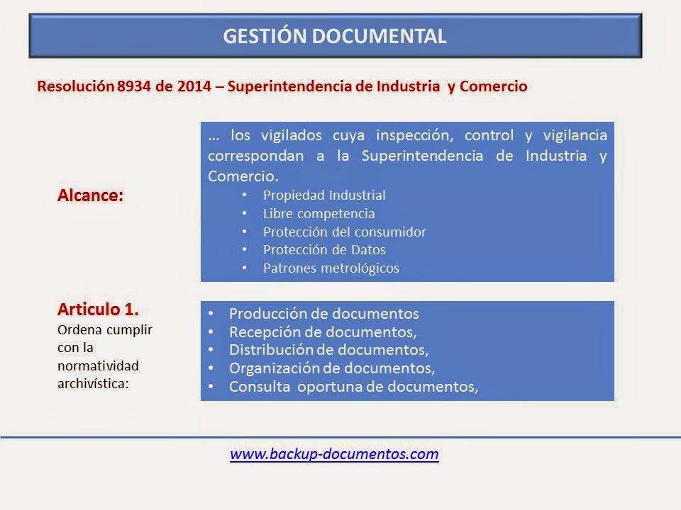Resolución 8934 de 2014: Gestión Documental y organización de ...