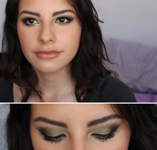 mac sumptuous olive mufe 47 olive green makeup look