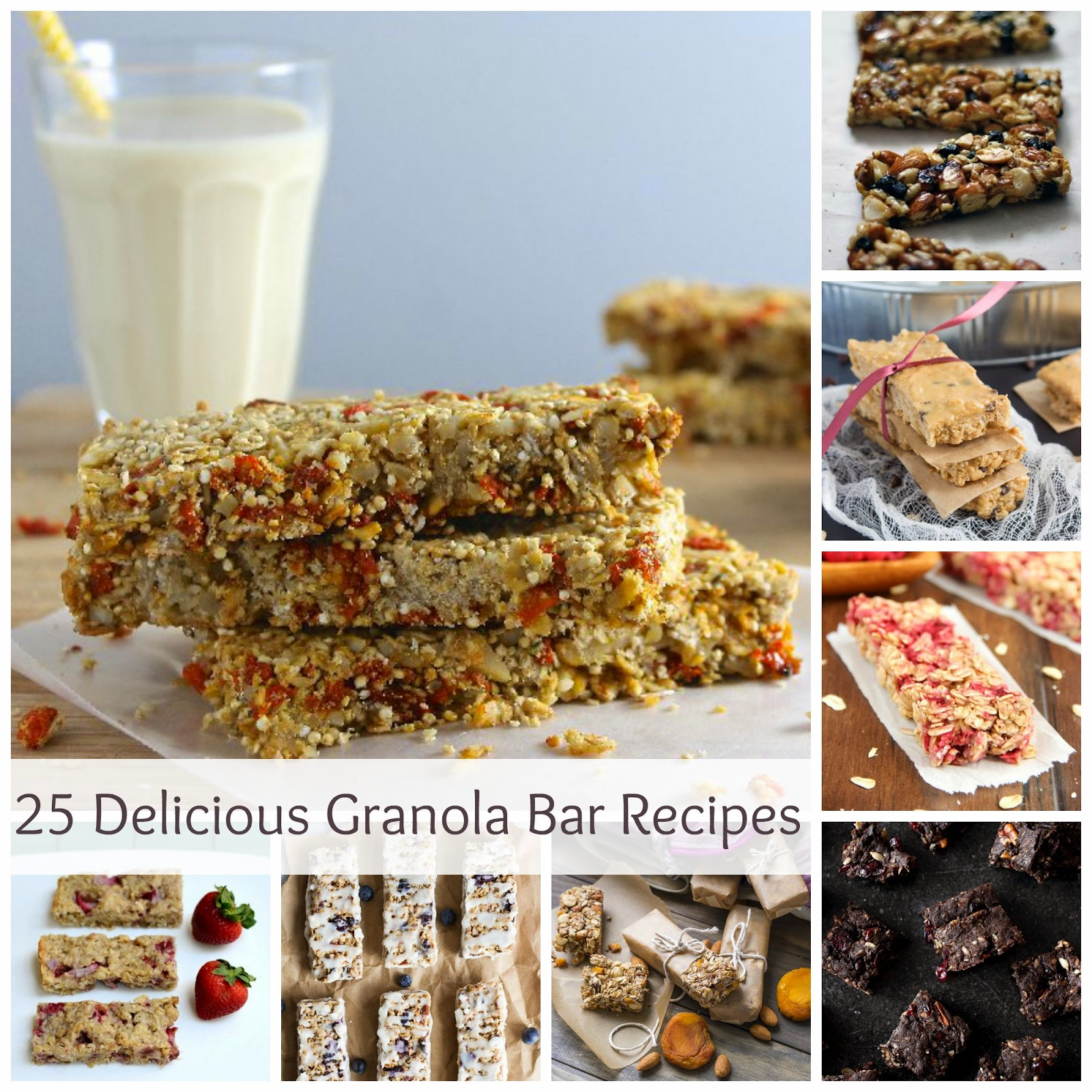 25 Granola Bars {Healthy Recipes}