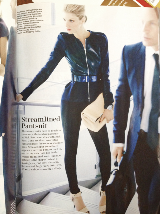 The streamlined pantsuit by Dior