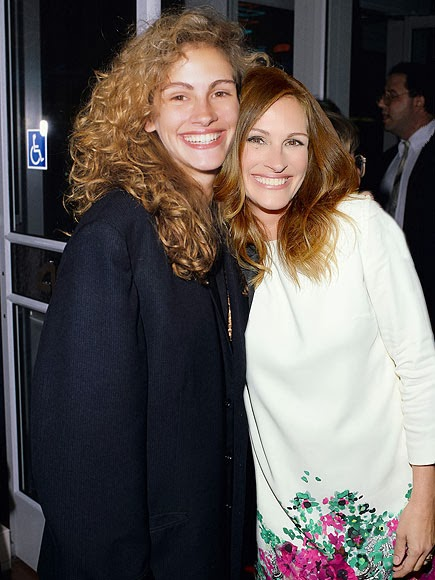 Julia Roberts in 2013 (right) and in 1989