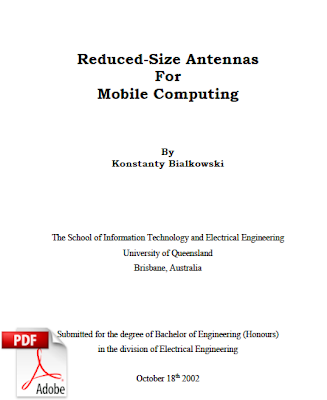 Reduced size antenna: Completed engineering project report