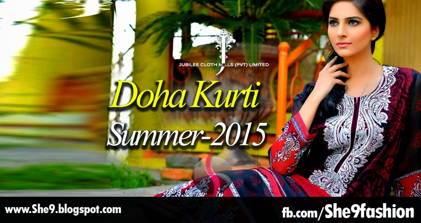Jubilee - Doha Kurti Summer Collection 2015