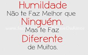 .HUMILDADE X DIFERENÇA
